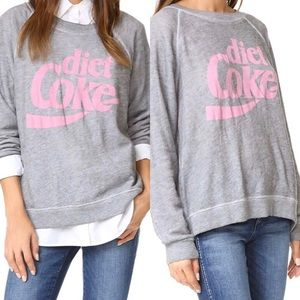 Wildfox Diet Cola Gray Pink Sweatshirt Sz S